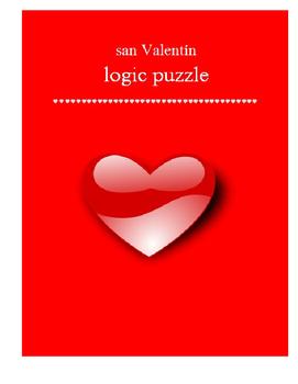 Valentine logic puzzle SPANISH