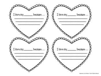 Freebie! Valentine love notes