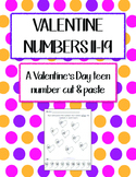 Valentine numbers 11-19 - Supports the Common Core