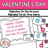 Valentine on the Ground Circle Time Game
