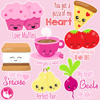 Valentine pairs clipart commercial use, vector graphics  - CL1058