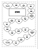 Valentine phonics game boards