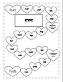 Valentine phonics game boards