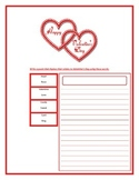 Valentine poem worksheet