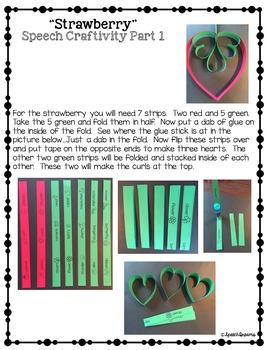 Valentine's 3D Speech Therapy Crafts {articulation language craftivities}