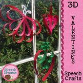 Valentine's 3D Speech Crafts {articulation language craftivities}
