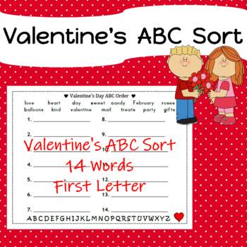 Valentine's ABC Sort