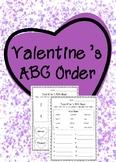 Valentine's ABC order