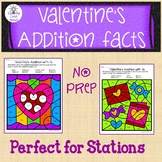 Valentine's Addition Facts Color By Code