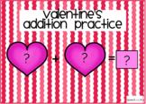 Valentine's Addition Practice