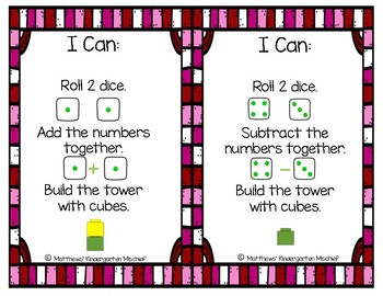 Valentine's Addition/Subtraction Towers within 12