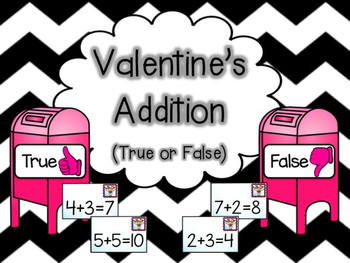 Valentine's Addition Sort (True or False)