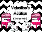 Valentine's Addition Sort (True or False)