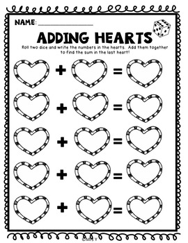 Valentine's Addition and Subtraction