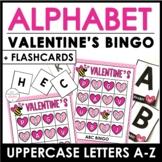 Valentine's Alphabet Bingo Game - Uppercase Letters A through Z