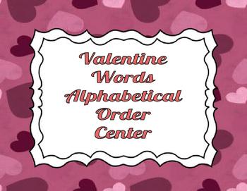 Valentine's Alphabetical Order Center