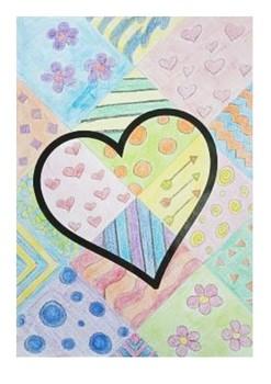 Valentine's Art Activity - Patterns and Designs