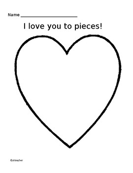 Valentine's Art Craft- Love you to pieces