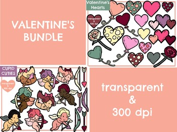 Valentine's BUNDLE - Cupids & Hearts (Digital Clip Art)
