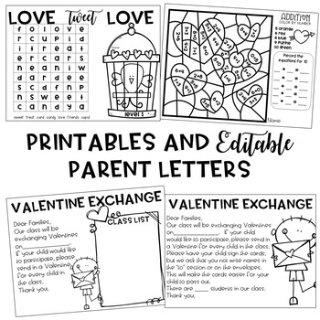 Valentine's Day Activities Bag Craft and Printables {EDITABLE}
