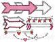 Valentine's Banners & Arrows Digital Clip Art Set- Color and Black Line COMBO