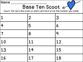 Valentine's Base Ten Scoot