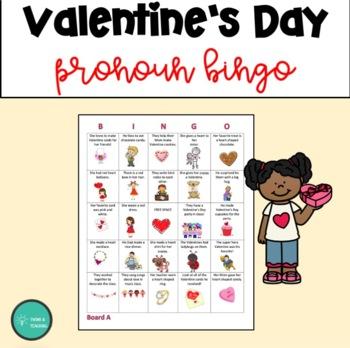 ESL Valentine's Day Pronoun Bingo