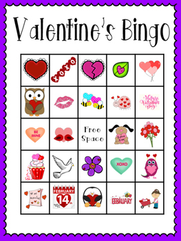 Valentine's Bingo (30 completely different cards & calling cards included!)