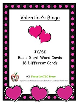 Valentine's Bingo Cards