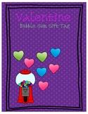 Valentine's Bubble Gum Gift Tag
