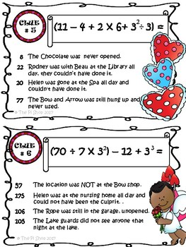 Valentine's C.S.I Math Review{Order of Operations}(NO PREP)