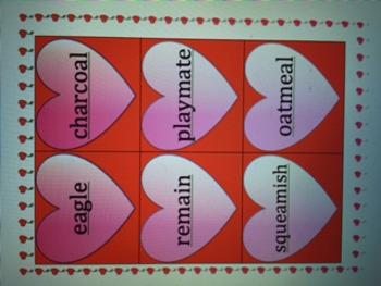 Valentine's CL, ME, O, C-le, BR, VT Syllables using VC/CV and V/CV: Wilson & OG