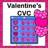 Valentine's CVC Pocket Chart Game