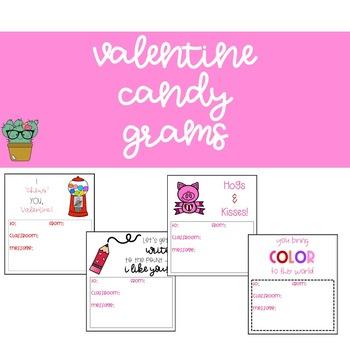 Candy Grams Template Teaching Resources Teachers Pay Teachers