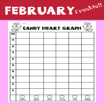 Valentine's Candy Heart Graph- February Freebie