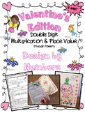 Valentine's Card Design by Numbers Multiplication & Place Value