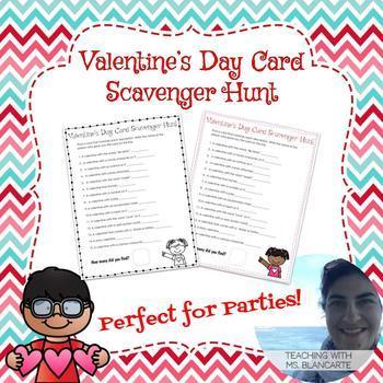 Valentine's Card Scavenger Hunt