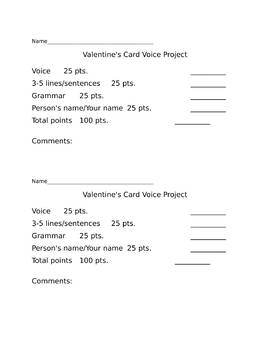 Valentine's Card Voice Project
