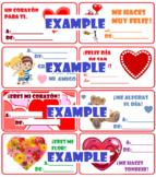 Valentine's Card in Spanish Día de San Valentín tarjetas