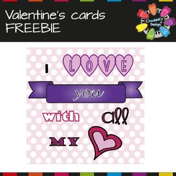 Valentine's Cards FREEBIE