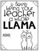Valentine's Cards: Llama Theme
