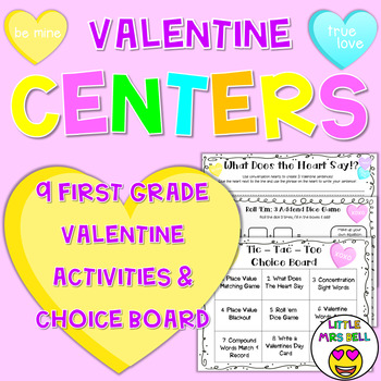 Valentine Centers & Choice Board