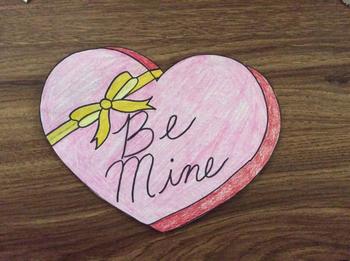 Valentine's Chocolate Box Craftivity