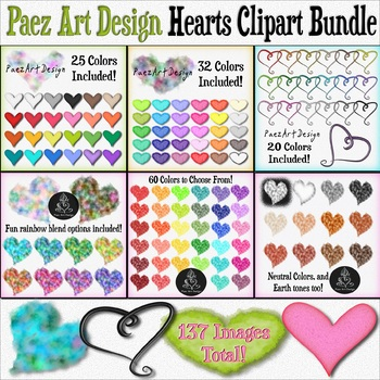 Valentine's Clipart BUNDLE! {Paez Art Design}