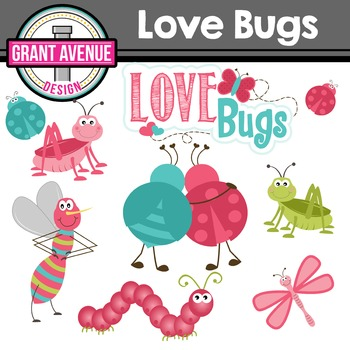 Valentine's Clipart - Love Bugs Valentine's Day Clipart