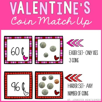 Valentine's Coin Match Up Freebie