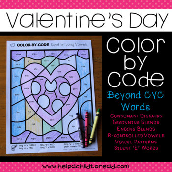 Valentine's Color-by-Code Beyond CVC Words