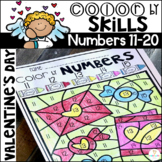 Valentine's Color by Code Numbers 11-20 Activities