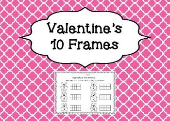 Valentine's Color the 10 Frames