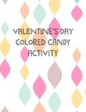 Valentine's Colored Conversation Hearts Activity